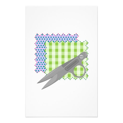 Fabric & Scissors Stationery Design