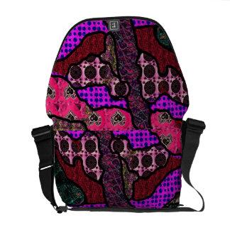 """""""Fabric Scraps 1"""" Messenger bag"""".  * Courier Bag"""