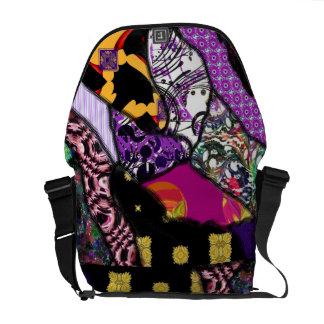 """""""Fabric Scraps 2"""" messenger bag"""".* Courier Bag"""