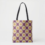 Fabric stock market burgundy with sends them tote bag