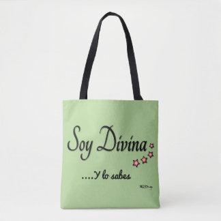 Fabric stock market I am Divine Tote Bag