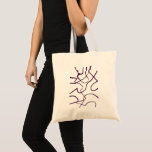 Fabric stock market with abstract geometric tote bag