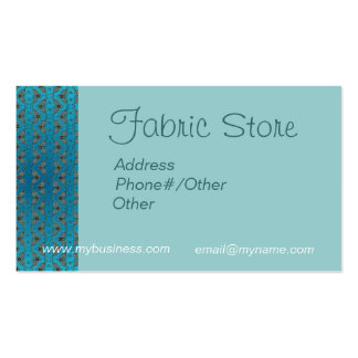 FABRIC STORE CARD by SHARON SHARPE Double-Sided Standard Business Cards (Pack Of 100)