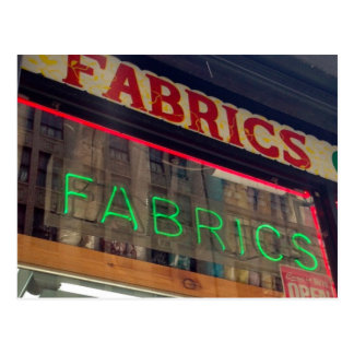 Fabric Store Neon Sign Postcards