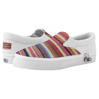 Fabric Stripes I + your ideas Slip-On Sneakers