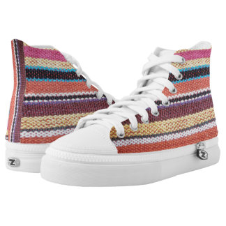 Fabric Stripes II + your ideas High-Top Sneakers