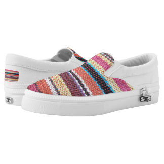 Fabric Stripes II + your ideas Slip-On Sneakers