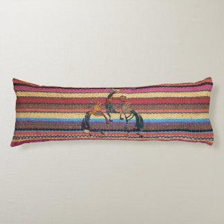 Fabric Stripes Pattern colored I + KOKOPELLI Body Pillow