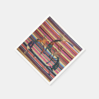 Fabric Stripes Pattern colored I + KOKOPELLI Napkin