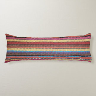Fabric Stripes Pattern colored I + your ideas Body Pillow