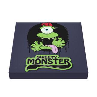 Fabric Sweaty Monster Canvas Print
