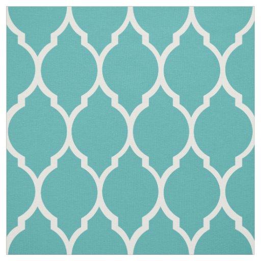 Fabric Teal Morrocan Pattern Zazzle