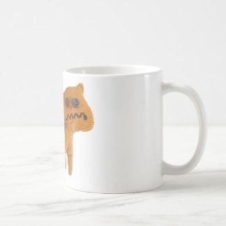 Fabric teddy cat coffee mug