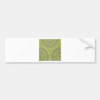Fabric Texture Green Circle Grey Vintage Cool Patt Bumper Sticker