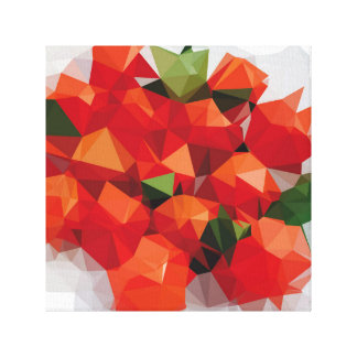 """Fabric """"Tomatoes """" Canvas Print"""