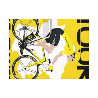 Fabric Tour de France Canvas Print