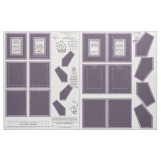 Fabric washable no sew lavender photo frame crafts