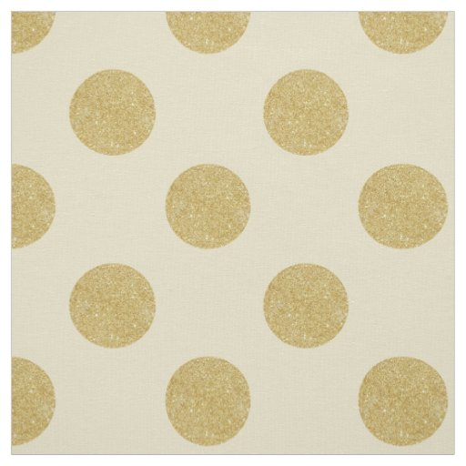 Fabric White Amp Faux Gold Polka Dots Fabric Zazzle Com