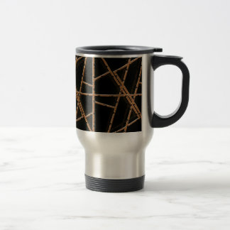 Fabric Wires Background Travel Mug