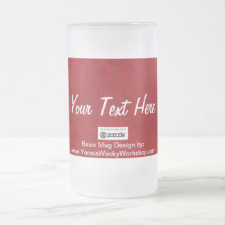 Fabric, Your Text Here Frosted Glass Beer Mug