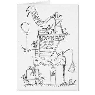 Fábrica 2 del cumpleaños del ratón tarjeta