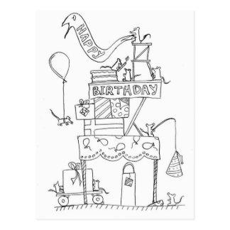 Fábrica 2 del cumpleaños del ratón postal