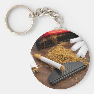Fábrica casera del tabaco llaveros personalizados