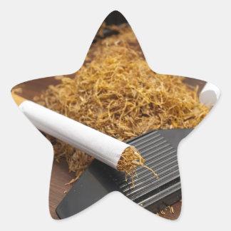 Fábrica casera del tabaco pegatina en forma de estrella