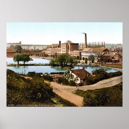 Fábrica Dartford Inglaterra de s de Wellcome y del Posters