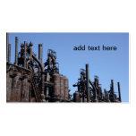fábrica de acero vieja tarjetas de visita