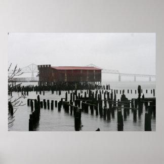 fábrica de conservas vieja Astoia Oregon Impresiones