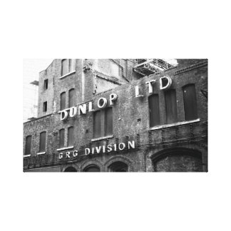 Fábrica de Dunlop Lienzo Envuelto Para Galerías