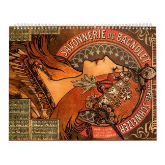 Fábrica de jabón de Bagnolet - Alfonso Mucha Calendarios De Pared