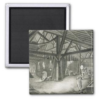 """Fábrica de la vidriería, de la """"enciclopedia"""" por  iman para frigorífico"""