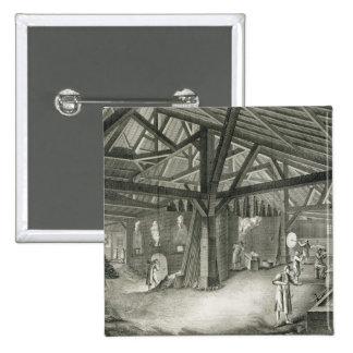 """Fábrica de la vidriería, de la """"enciclopedia"""" por  pin cuadrada 5 cm"""