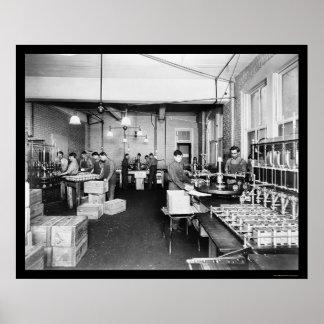 Fábrica del aceite de oliva en Pompeya 1912 Impresiones