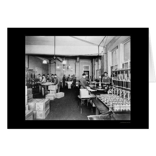 Fábrica del aceite de oliva en Pompeya 1912 Tarjeta De Felicitación
