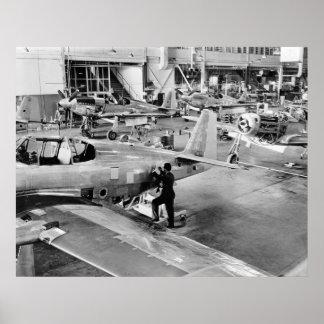 Fábrica del aeroplano: 1940 póster