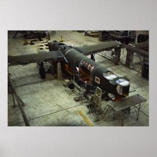 Fábrica del aeroplano WW2, los años 40 Póster