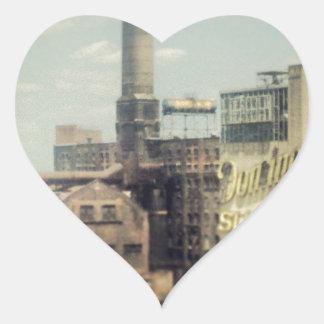 Fábrica del azúcar de Brooklyn Pegatina En Forma De Corazón