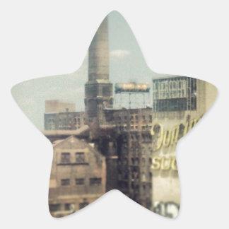 Fábrica del azúcar de Brooklyn Pegatina En Forma De Estrella