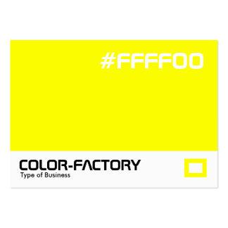 Fábrica del color - amarillo (FFFF00) Tarjetas De Visita Grandes