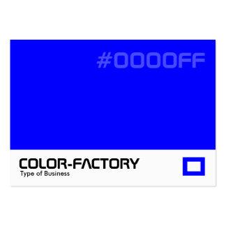 Fábrica del color - azul (0000FF) Tarjeta Personal