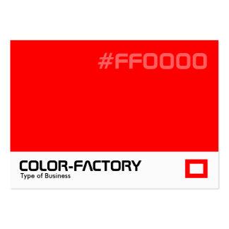Fábrica del color - rojo (FF0000) Tarjetas De Visita Grandes
