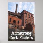 Fábrica del corcho de Armstrong, fábrica del corch Posters