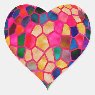Fábrica del diseño del premio - inspire la pegatina en forma de corazón