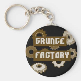 Fábrica del Grunge Llavero Redondo Tipo Pin