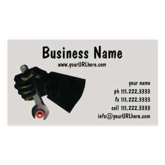 Fábrica del negocio del vintage, maquinista de tarjetas de visita