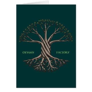 Fábrica del oxígeno tarjeta de felicitación