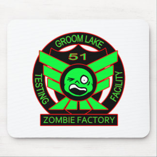 Fábrica del zombi del área 51 alfombrillas de raton